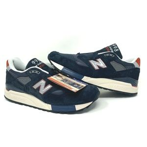 J Crew X New Balance 998 Navy Suede Running Shoes